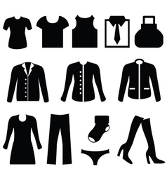Silhouette of clothing vector