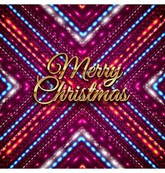 Golden merry christmas headline on purple vector