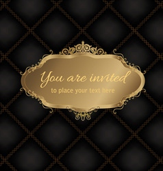 Decorative frame with background vector