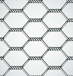 Chicken wire seamless background vector