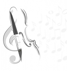 Violin and key lines vector