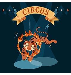 Circus tiger vector