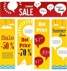 Summer sale tags set with speech vector