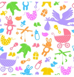Baby items pattern vector