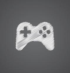 Joystick sketch logo doodle icon vector