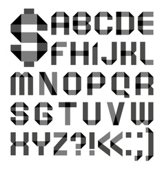 Font from a paper transparent tape - alphabet vector