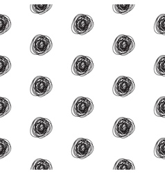 Seamless abstract scribble pattern vector
