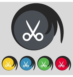 Scissors hairdresser sign icon tailor symbol set vector