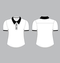 Blank shirt with shot sleeves template vector