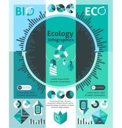 Ecology infographics set vector