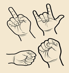 Hand signs 4 vector