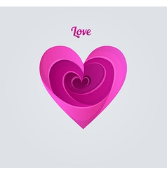 Happy valentines day pink heart vector