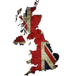 United kingdom map grunge mosaic vector