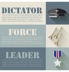 Flat military soldier equipment set design concept vector
