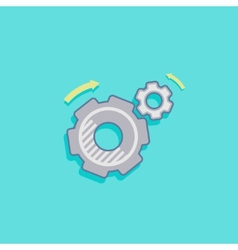 Simple with a cogwheel icon flat design vector