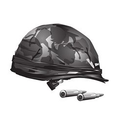 Military helmet free vector