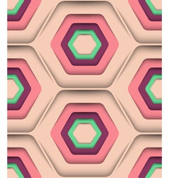 Honeycomb spring colors seamless pattern vector