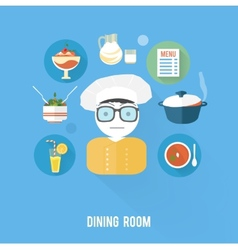 Kitchen concept with item icons vector