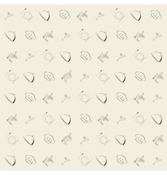 Wallpaper vintage retro seamless pattern vector