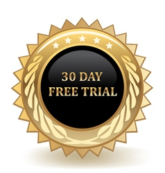 Thirty day free trial vector