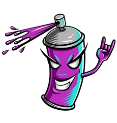 Spray paint violet vector