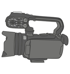 Isolated video camera vector