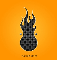 Abstract fire design on orange material vector