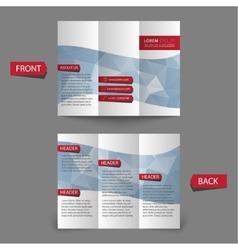 Tri fold brochure design vector