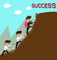 Leadership and team are success in business vector