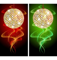 Discoball background vector
