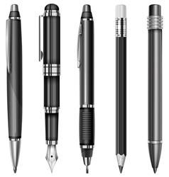 Set pens 10 v vector