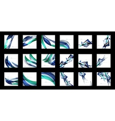Large set of abstract backgrounds vector