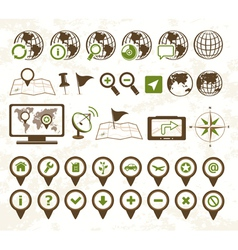 Location icons military style vector