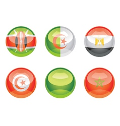 Flag buttons vector