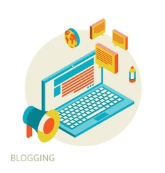 Isometric design modern concept of blogging vector