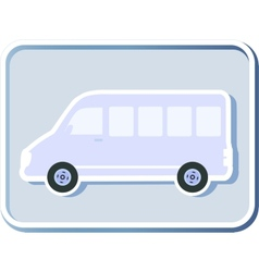 Icon with isolated minibus vector
