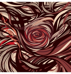 Rose - abstract modern design vector