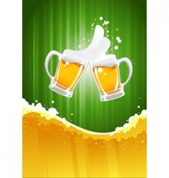Beer splashing vector
