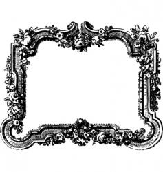 Victorian floral frame vector