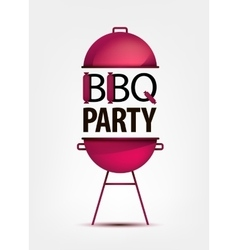 Barbecue bbq party invitation with grill logo vector