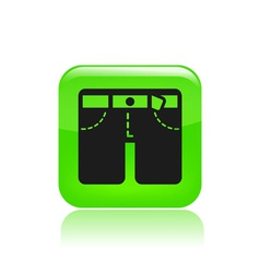 Shorts icon vector