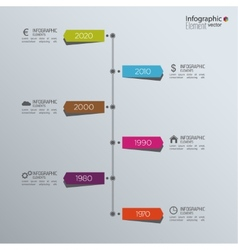 Timeline infographic with arrows and pointers vector
