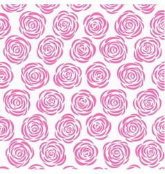 White background with pink roses vector