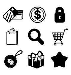 Shopping icon set vector