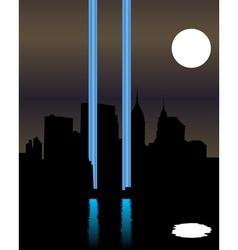 Memorial twin towers vector