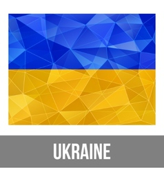 Ukrainian flag vector