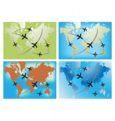 World airline routes vector