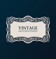 Label framework vintage banner decor vector