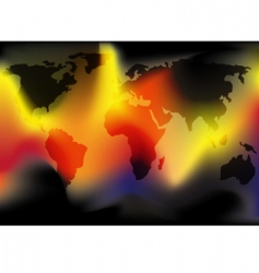 World in flames vector