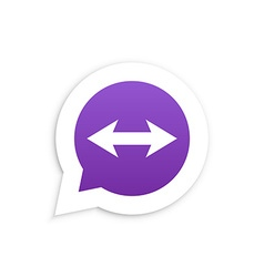 Arrows in speech bubble icon vector
